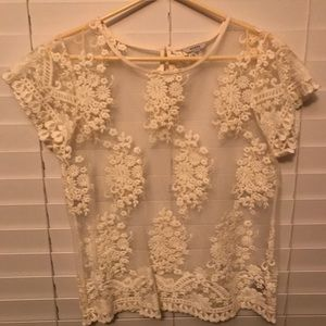 Guess Lace Sheer Top